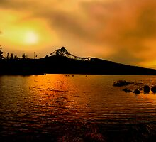Amber Glow At Big Lake by Charles & Patricia   Harkins ~ Picture Oregon