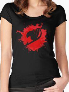 Fairy splash art Women's Fitted Scoop T-Shirt