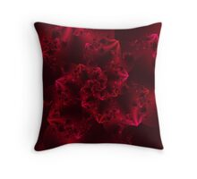 Passion Abstract Fractal Throw Pillow