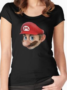 Realistic mario Women's Fitted Scoop T-Shirt