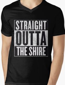 Straight Outta The Shire Mens V-Neck T-Shirt