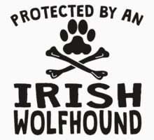Protected By An Irish Wolfhound Kids Clothes