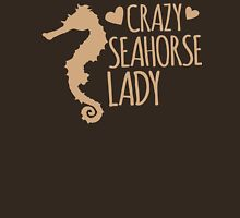 Crazy Seahorse Lady Womens Fitted T-Shirt
