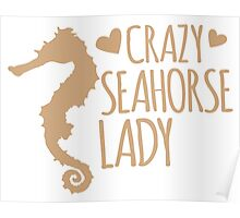 Crazy Seahorse Lady Poster