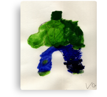 The Hunk Superhero Canvas Print