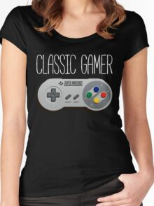 Classic gamer (snes controller) Women's Fitted Scoop T-Shirt