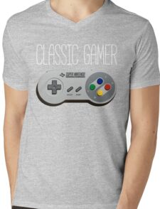 Classic gamer (snes controller) Mens V-Neck T-Shirt