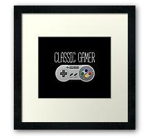 Classic gamer (snes controller) Framed Print