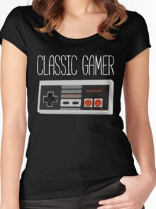 Classic gamer (nes controller) Women's Fitted Scoop T-Shirt