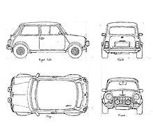 Mini Cooper S MK II Photographic Print
