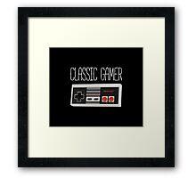 Classic gamer (nes controller) Framed Print