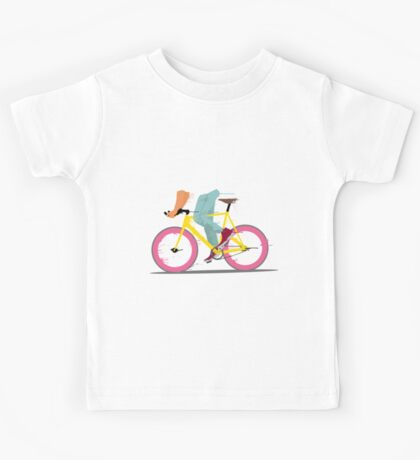 fixie bicycle Kids Tee