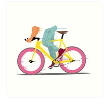 fixie bicycle Art Print