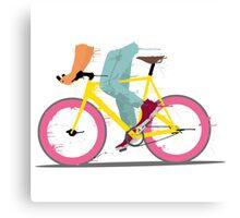 fixie bicycle Canvas Print