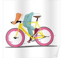 fixie bicycle Poster