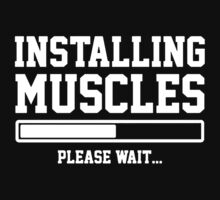 INSTALLING MUSCLES FUNNY PRINTED MENS TSHIRT GYM LIFT BRO WORKOUT NOVELTY SLOGAN Kids Clothes