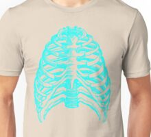 Skeleton rib cage - blue Unisex T-Shirt