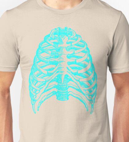 Skeleton rib cage - blue Unisex T-Shirt