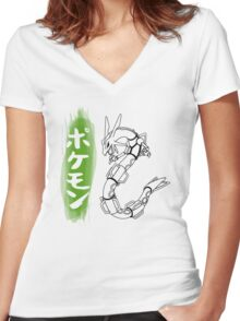 Rayquaza Women's Fitted V-Neck T-Shirt