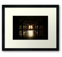 The long walk for a call. Framed Print
