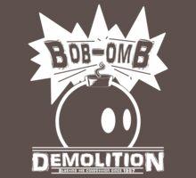 Bob-Omb Demolition White One Piece - Short Sleeve