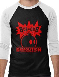 Bob-Omb Demolition red Men's Baseball ¾ T-Shirt