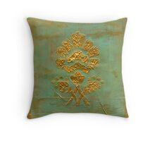 Golden Flower Throw Pillow