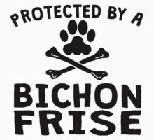 Protected By A Bichon Frise Kids Clothes