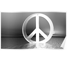 Black & White Peace Poster