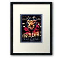 El Mascarado de Hurracan Framed Print