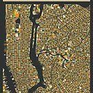 NEW YORK MAP by JazzberryBlue