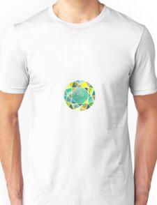 Green watercolor diamond Unisex T-Shirt