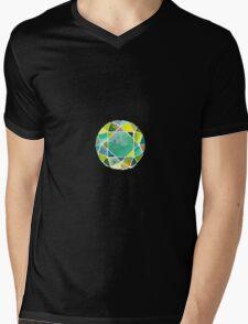 Green watercolor diamond Mens V-Neck T-Shirt