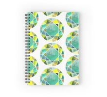 Green watercolor diamond Spiral Notebook