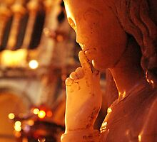 angel statue, basilica at Montserrat, Spain by David Stirling