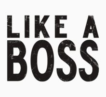 Like A Boss [BLACK] Kids Clothes