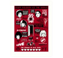 Scott Pilgrim Quotes Art Print