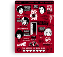 Scott Pilgrim Quotes Canvas Print