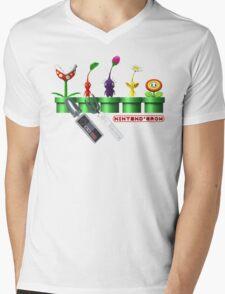 Nintend'Gro Gardening,  Mens V-Neck T-Shirt