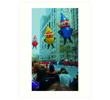 Thanksgiving Day in New York City Art Print