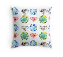 Diamonds, Diamonds, Diamonds Throw Pillow
