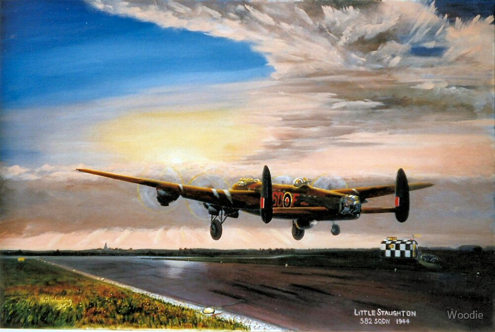 582 Sqdn Lanc take off by Woodie