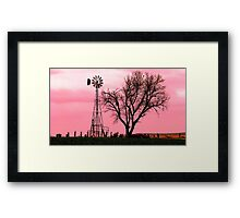 Kansas windmill Framed Print