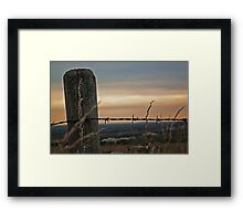 Post and wire Framed Print