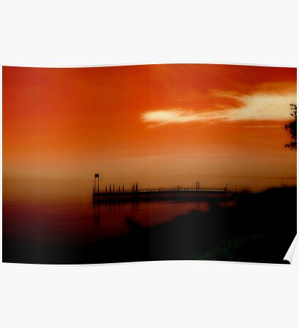 Lake Michigan Sunset Poster