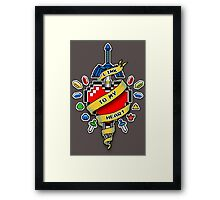 A LINK TO MY HEART Framed Print
