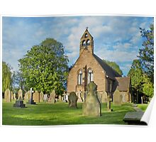 Church in Cheshire, England Poster