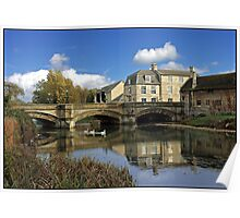 River Welland and Bridge at Stamford. Poster