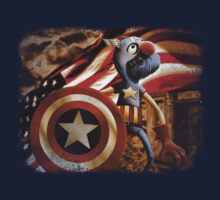 'Fuzzy & Red, White & Blue' (Grover / Captain America) by James Hance