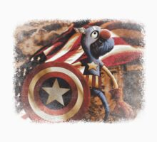 'Fuzzy & Red, White & Blue' (Grover / Captain America) Kids Clothes